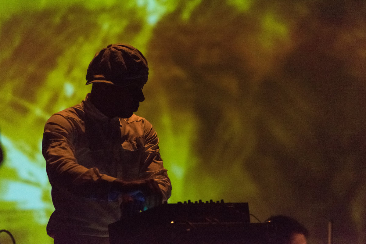 DJ Spooky premiers Exporer One Remix at Englert Theatre. Friday, October 20, 2017. --photo by Zak Neumann